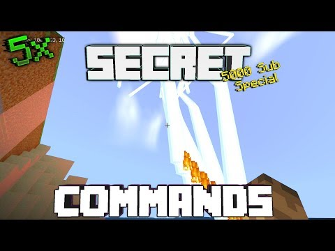 Minecraft: 5x Secret/Awesome Commands You Must KNOW!(5000 Sub Special)