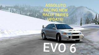 Assoluto Racing NEW RALLY SERIES UPDATE! - EVO 6 | Snow Drifting x EVO 6