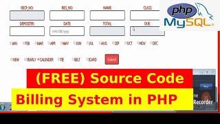 Registration billing system - php/mysql