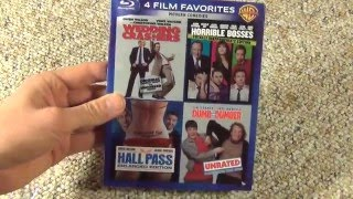 4 Film Favorites Modern Comedies Collection Dumb and Dumber Hall Pass Blu-Ray Unboxing