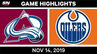 NHL Highlights | Avalanche vs Oilers - Nov. 14, 2019