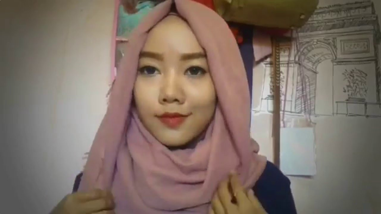 Hijab Tutorial With Earing Pompom YouTube
