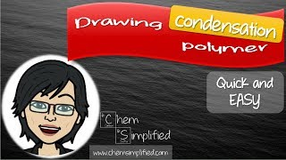Drawing polymer | Condensation polymerization | Easy way – Dr K