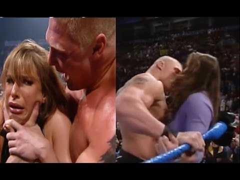 Download 2016 Brock Lesnar KISS Stephanie McMahon Look what's happen after New Match Wwe Kurt Angle return