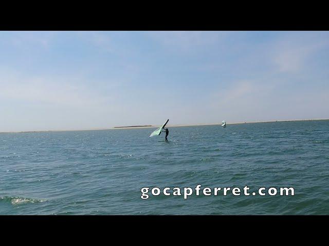 WIng Foil à la  Dune du Pilat Cap Ferret Bassin d'Arcachon par gocapferret  #shorts #4K
