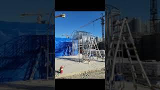 천막시공 건설사 폐기물보관소 자바라천막 (네이버: 천막…