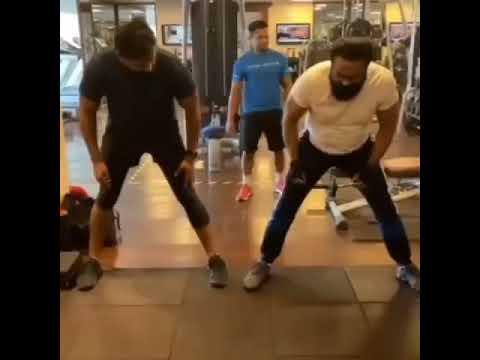 Download Actor Sarathkumar and Vishnu Manchu doing Single Hand Push Up   Hyatt Hyderabad   Fitness Workout