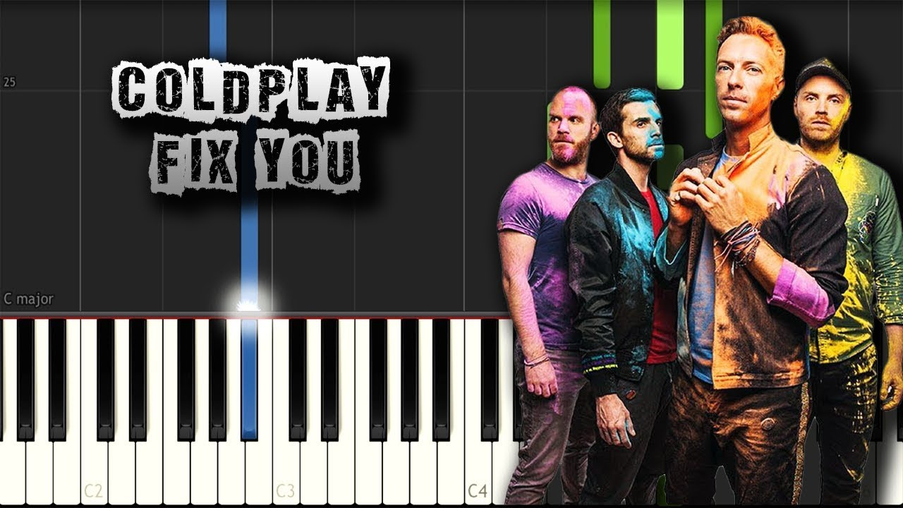 Coldplay - Fix You - [Piano Tutorial Synthesia] (Download MIDI)