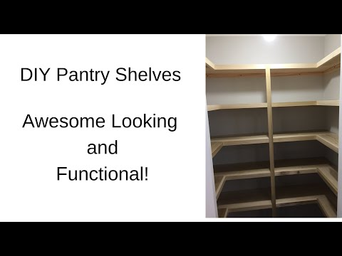 DIY Shelves for a Pantry