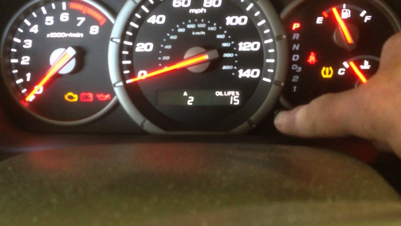 Oil change light in a 20062010 Honda Pilot  YouTube