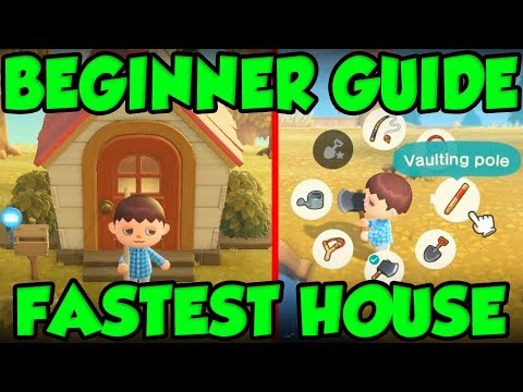BEST Animal Crossing New Horizons Beginners Guide - FASTEST HOUSE AND TOOL RING GUIDE!