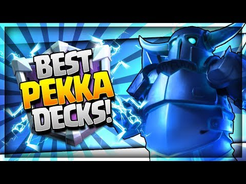*NEW* TOP 5 BEST PEKKA DECKS for EASY WINS!! [2018] Arena 10 - 12 Trophy Push Decks - Clash Royale