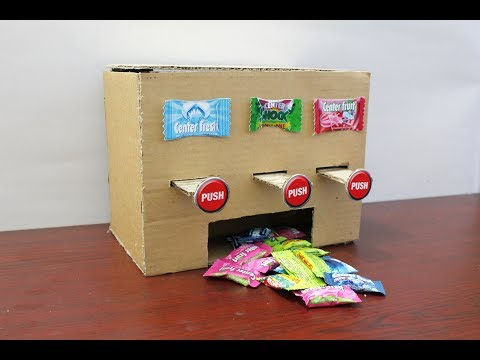 How to Make MULTI Chewing Gum Vending Machine at Home DIY