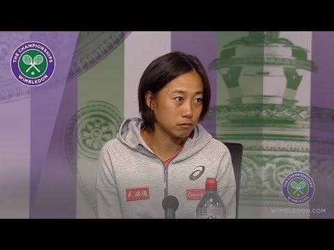 Shuai Zhang Quarter-Final Press Conference WImbledon 2019