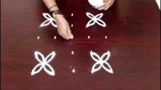 simple kolam designs with 5x5 dots- muggulu designs with dots- simple rangoli designs with dots