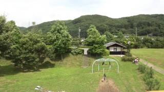 ホタル有名な長野県辰野町にある公園の映像。一番大きな遊具の上から撮...
