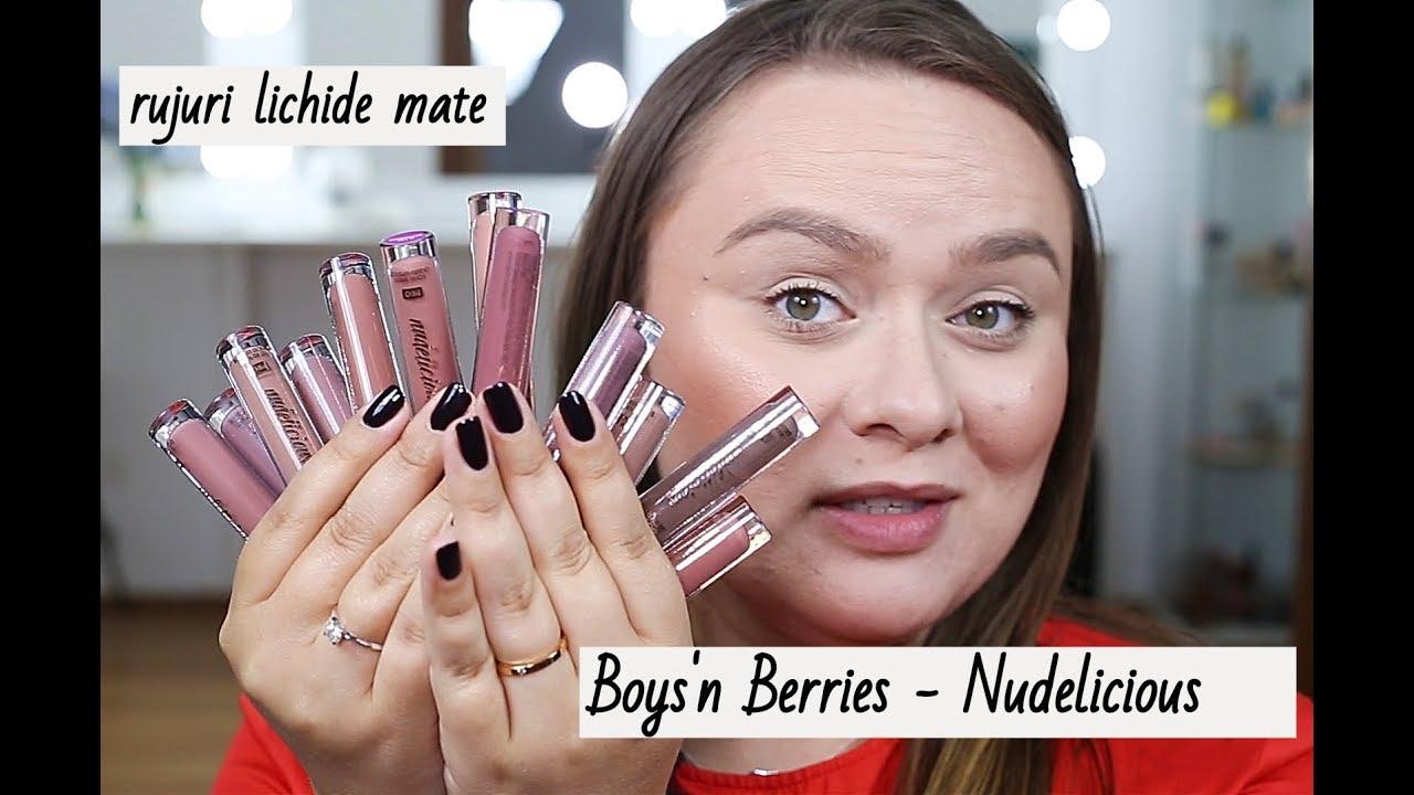 Am Testat Rujurile Nudelicious De La Boysn Berries Youtube
