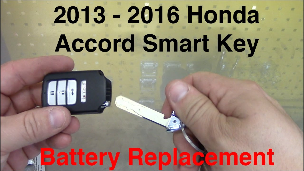 2013 2016 honda accord smart key battery replacement youtube. Black Bedroom Furniture Sets. Home Design Ideas