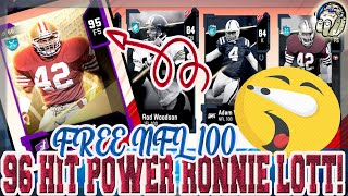 DO THIS TODAY! GET YOUR FREE NFL 100 PLAYER! 96 HIT POWER RONNIE LOTT! Madden 20 Ultimate Team
