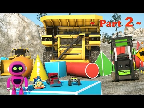 Thumbnail: Learn Shapes At the Construction Site - Learn Shapes And Race Monster Trucks - TOYS (Part 2)