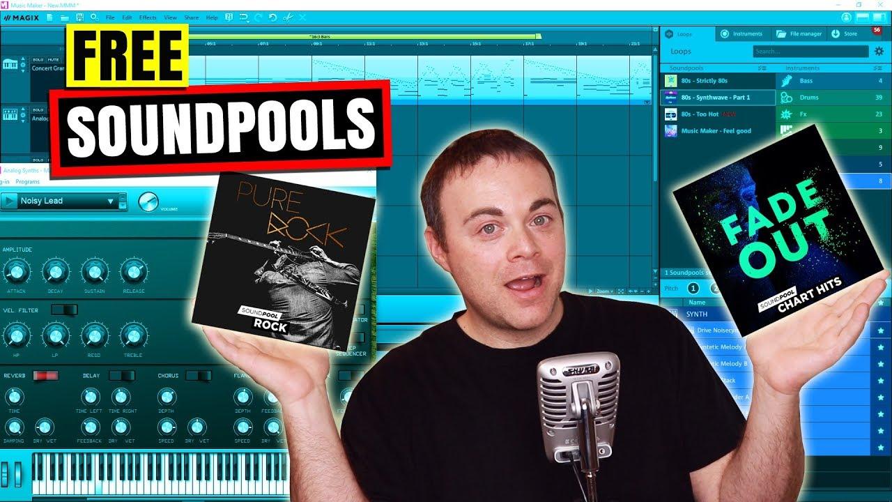 free soundpools for magix music maker 16