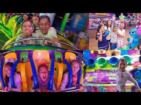 Locuras en la Feria de Juegos Mecanicos ¡GANAMOS PREMIOS!
