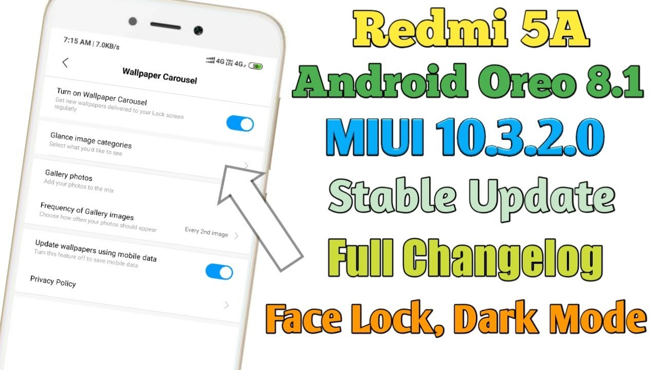 Repeat Redmi 5A MIUI 10 3 2 0 Android Oreo 8 1 Stable Update