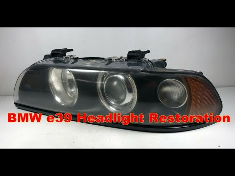 Bmw E39 M5 540i 525i 530i Headlight Restoration