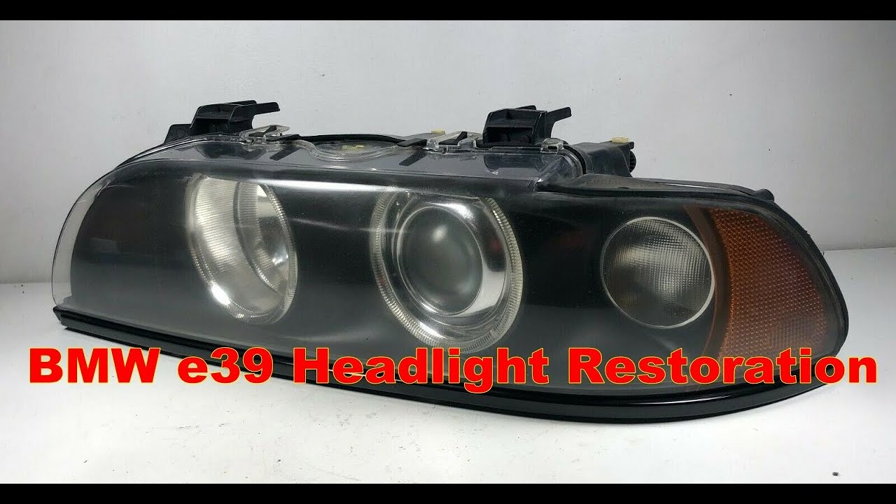 Bmw E39 M5 540i 525i 530i Xenon Headlight Restoration