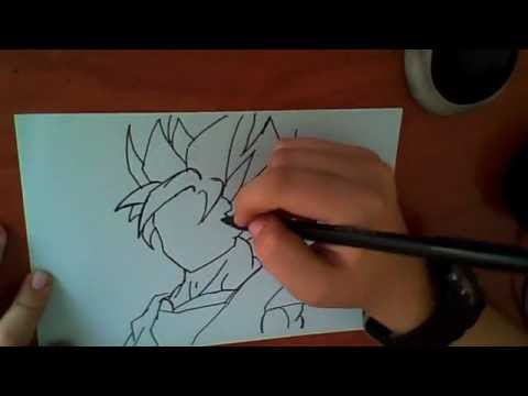 Como dibujar a goku ssj2  YouTube
