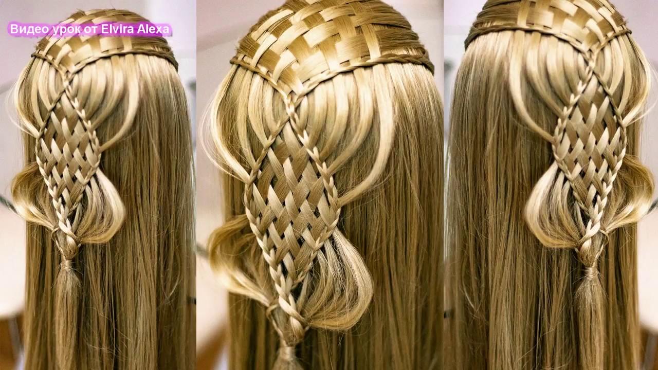 Ажурная коса Причёска для длинных волос Peinado Hair tutorial