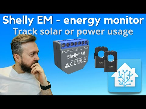 Home Assistant How To - Shelly EM - Fuse-box Energy Meter