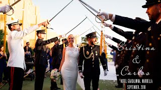 Cristina&Carlos. Un video de boda militar en Hotel Guadalmina, Estepona, Marbella, Malaga