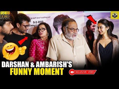 Challenging Star Darshan Ambarish Funny Moment Infront Of Media | Ambareesh Funny | #AmbarishComedy