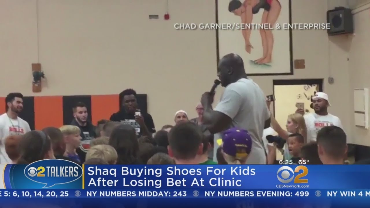 Shaq Buying Shoes For Kids After Losing