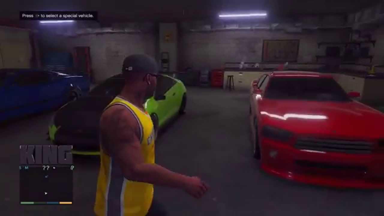 Gta v: franklin's garage!   youtube