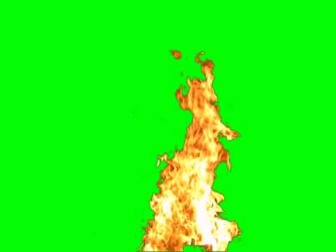 Green screen fire