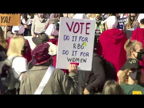 Thousands of women protest Barrett nomination