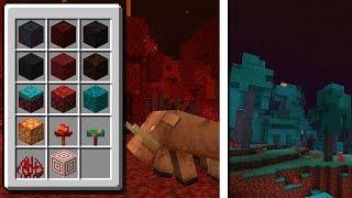 Minecraft: CONHECENDO OS NOVOS BLOCOS E MOBS DO MINECRAFT 1.16!