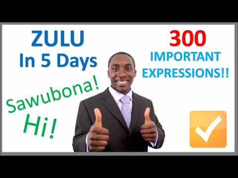 Learn Zulu in 5 Days - Conversation for Beginners