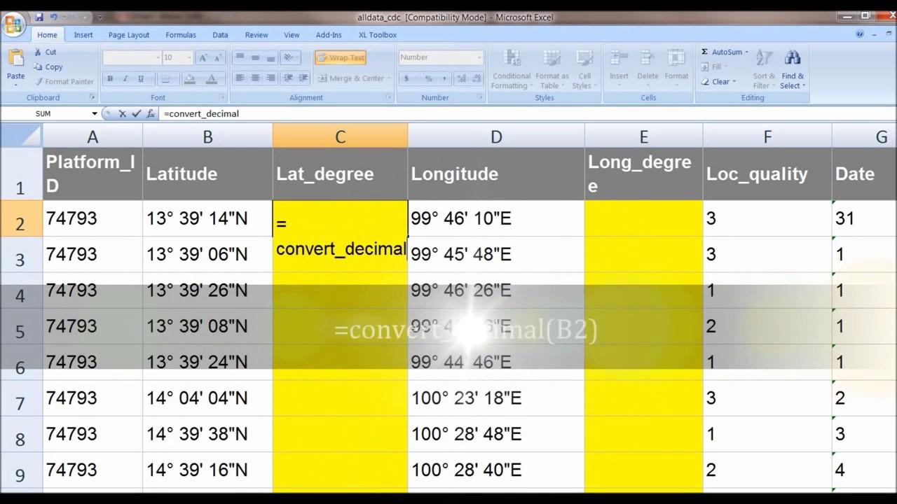 Convert Coordinates Degree Minute Seconds To Decimal Degrees