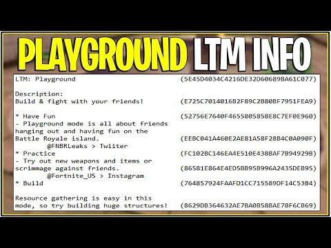 *NEW* Fortnite: LEAKED PLAYGROUND LTM INFO! | (Releasing Season 5?)