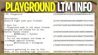 *NEW* Fortnite: LEAKED PLAYGROUND LTM INFO! | (Releasing Season 5?)