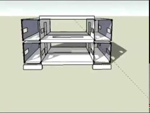 Conteneur plan construction container concept youtube for Construction de maison container