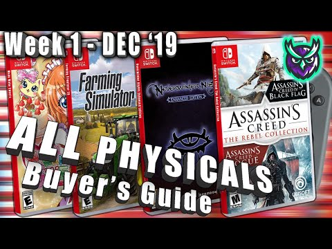 ALL Switch PHYSICAL Games This Week! - Collectoru0027s Guide - Dec. Week 1 2019
