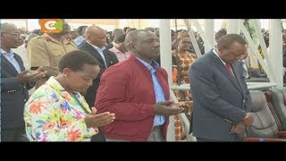 Uhuru, Raila wahudhuria ibada ya mwisho kabla ya uchaguzi