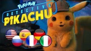 POKEMON Detective Pikachu Voice Comparison | 6 Different Languages