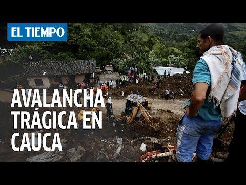 Avalancha  trágica  en Cauca