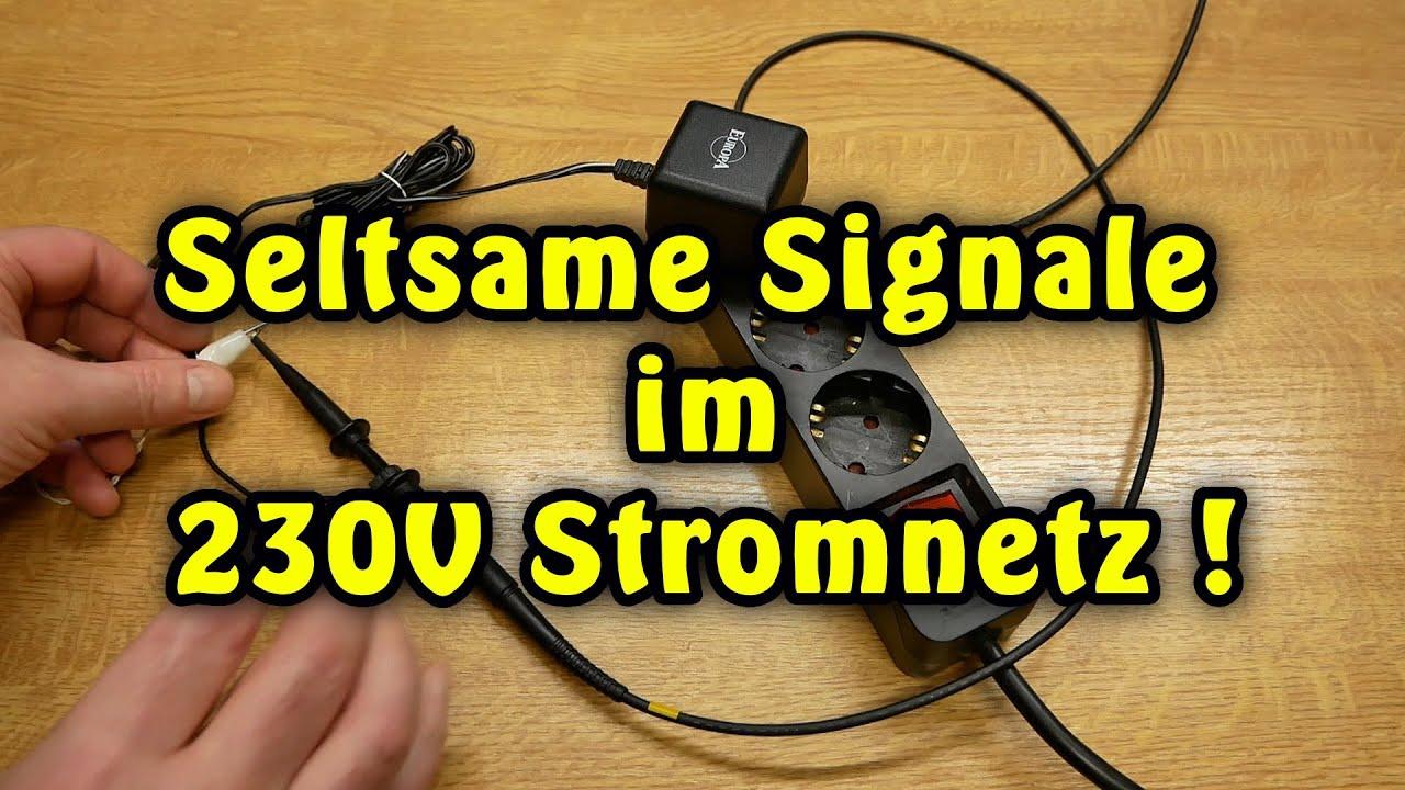 Seltsame Signale im  230 V Stromnetz !