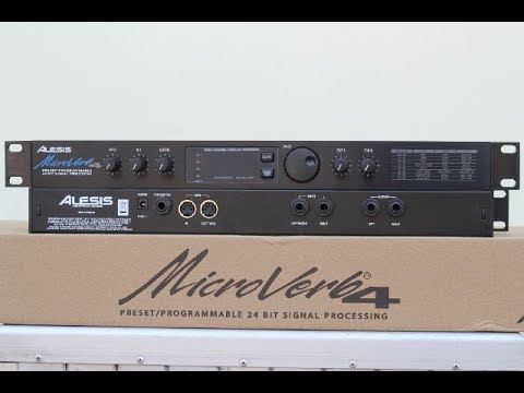 unboxing alesis microverb 4 effect vocal alesis mi 4 youtube. Black Bedroom Furniture Sets. Home Design Ideas
